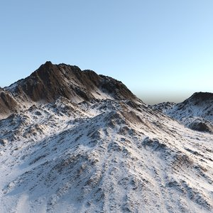 mountain realistic 3d model