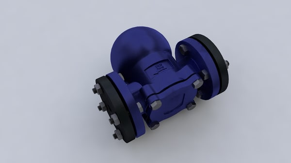 free steam trap 3d model