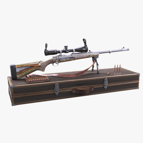 3d model ruger guide gun set
