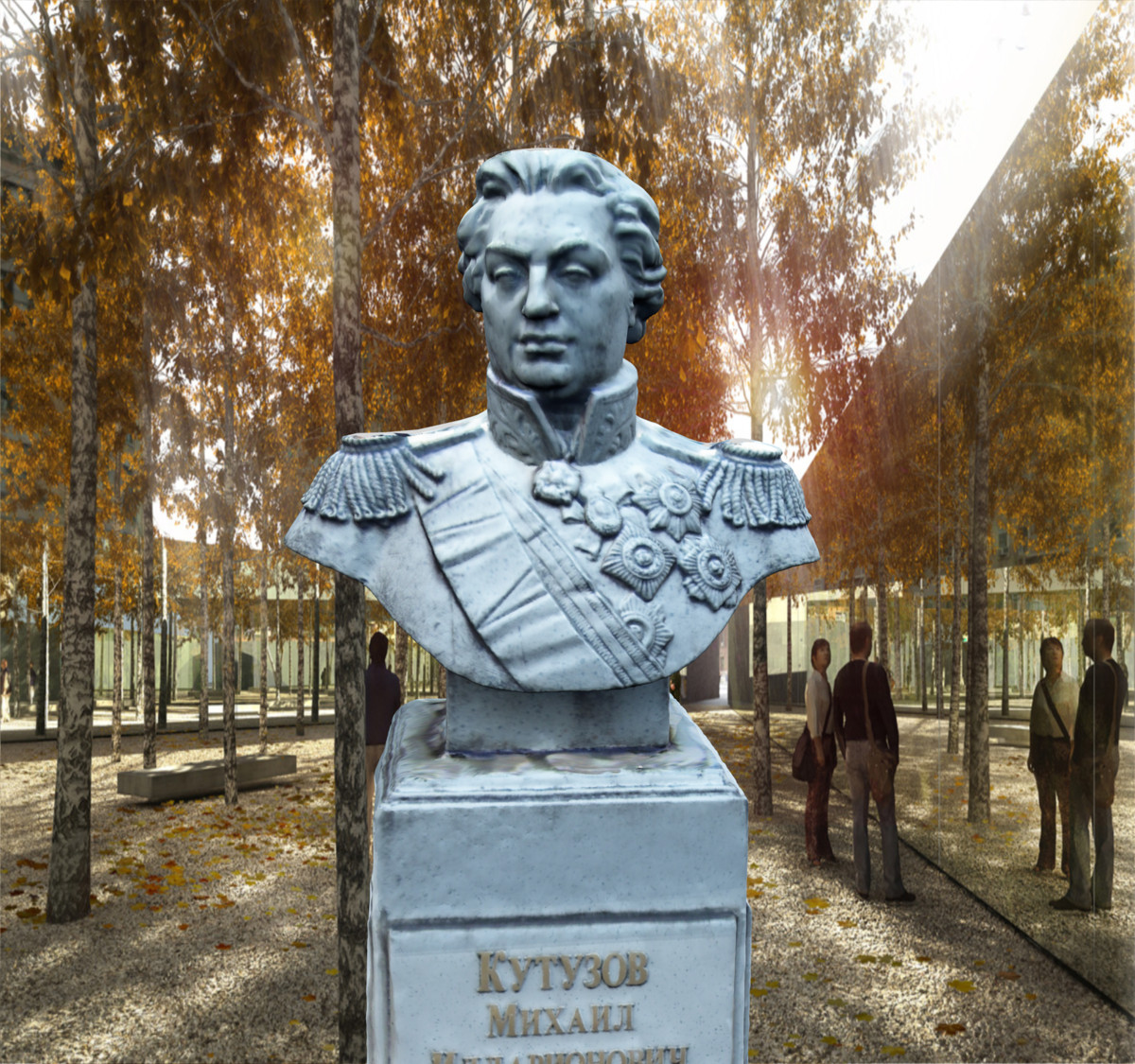 scan bust mikhail kutuzov 3d model