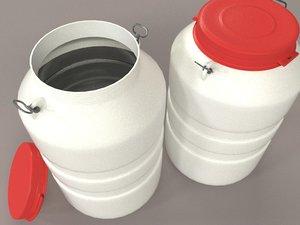 barrel - 40 liters 3d model