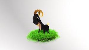 goaty goat 3dp animation 3d obj