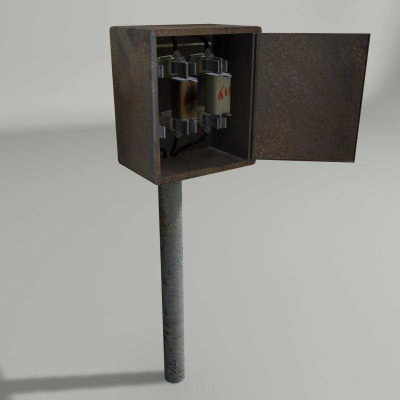old electricity box 3d model
