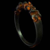 c4d glowing metal ring