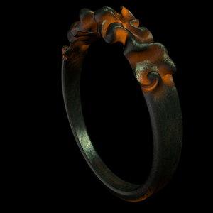 c4d glowing metal ring