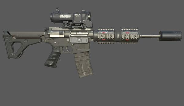 3d model m4 carbine