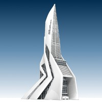 3ds futuristic building