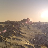 mountain range landscape terrain 3d model