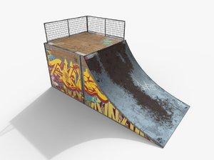 3d model skate ramp pbr