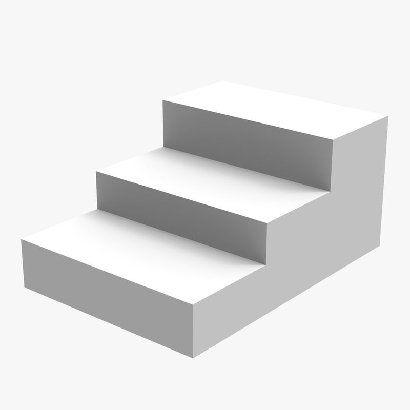 3 stairs 3d model