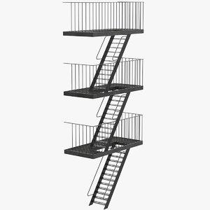 3d model facade escape