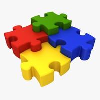puzzle 02 pose 3 3d model