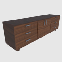 3d model ready cabinet - games