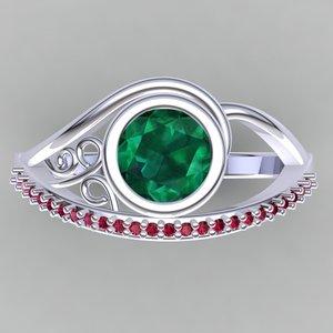 designer ring 3d model