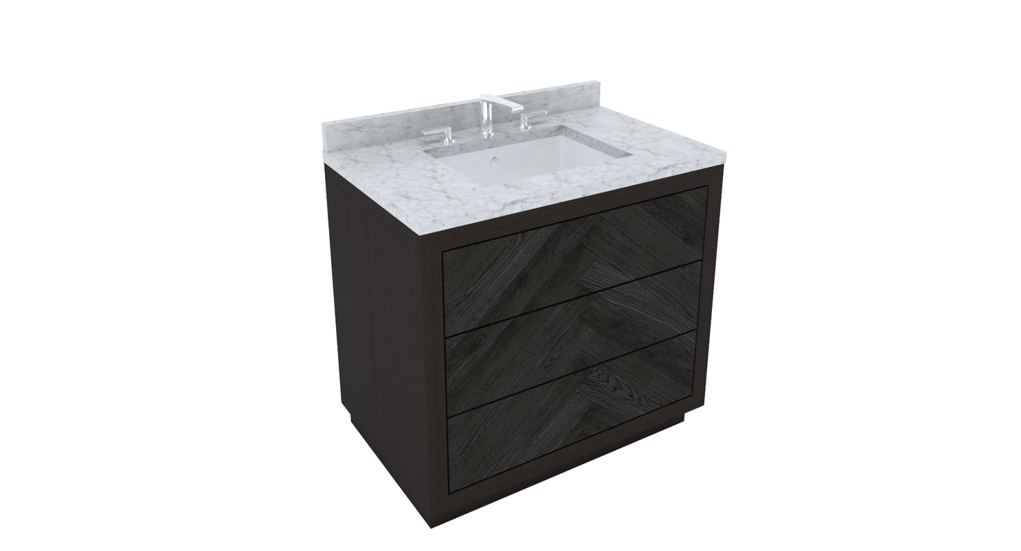 restoration hardware herringbone vanity 3d model