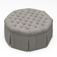 max french tufted ottoman