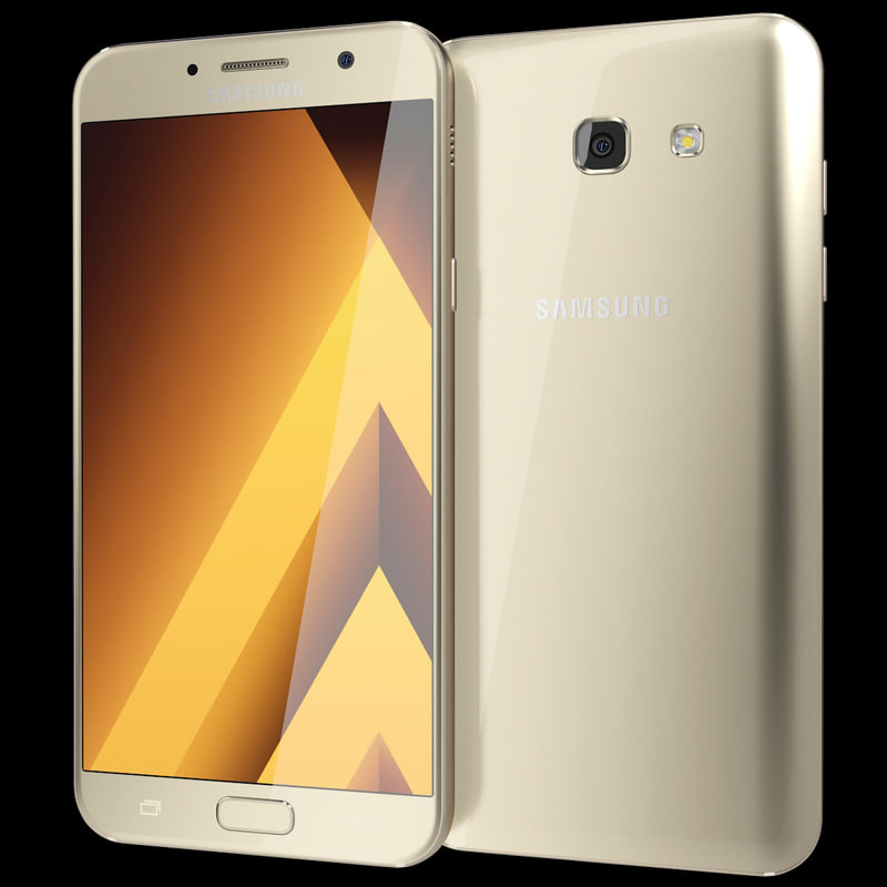 3d model realistic samsung galaxy a7