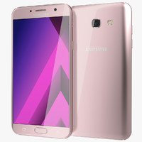 3d model of realistic samsung galaxy a7