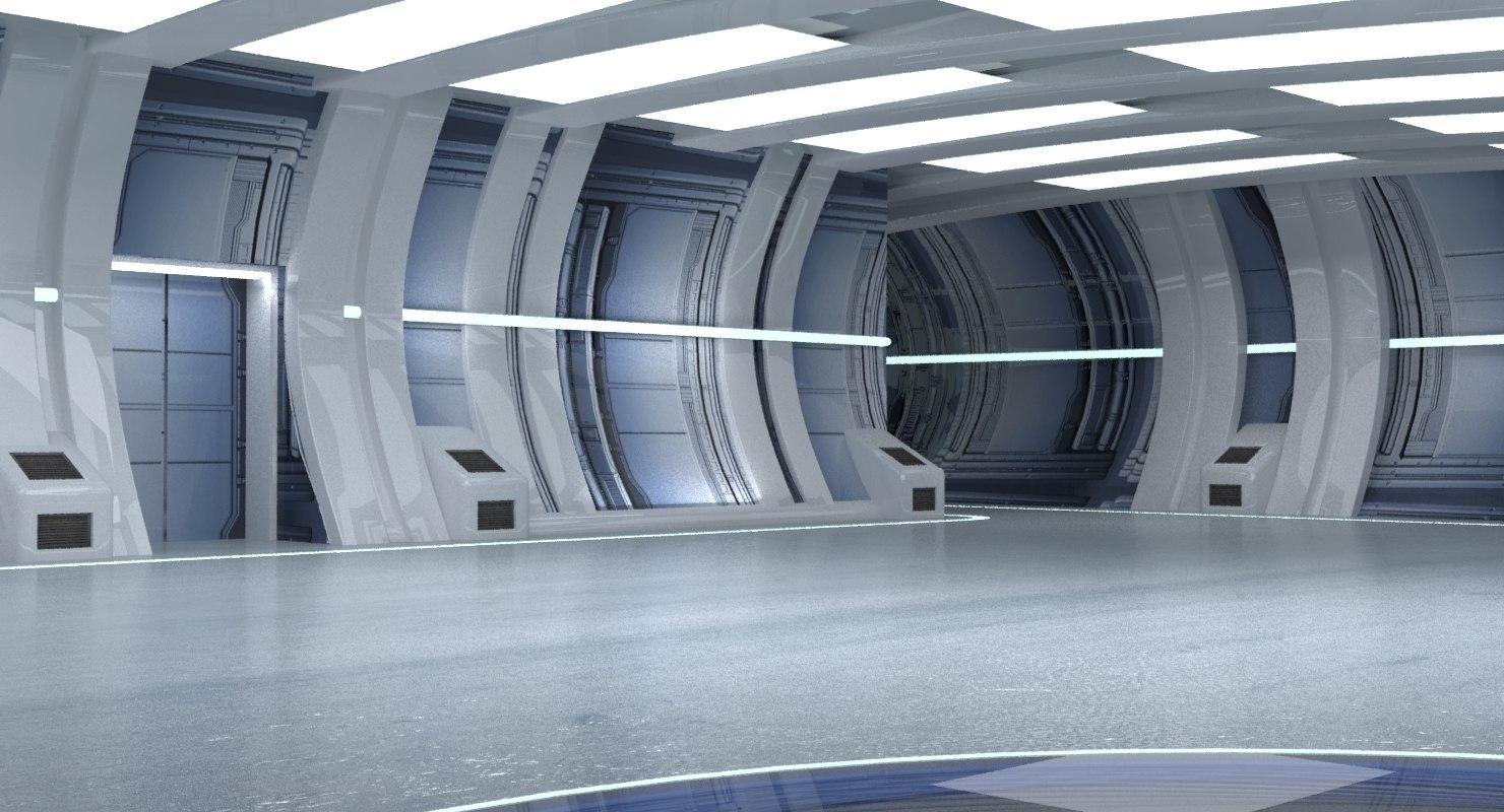 3d model sci fi lab