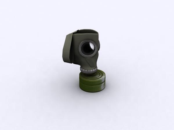 gas mask gp-5 3d max