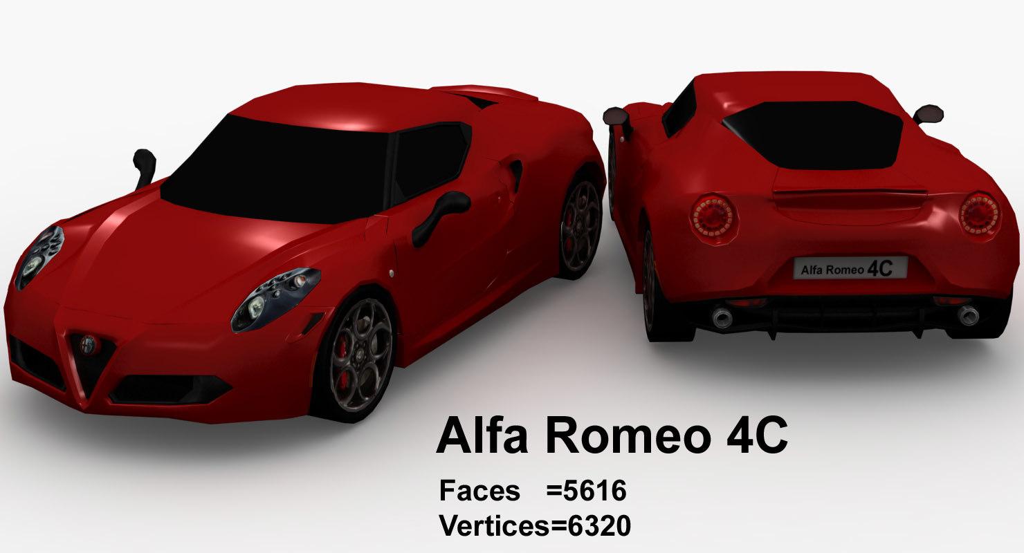 alpha romeo 4c 3ds