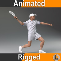 tennis player 3d max
