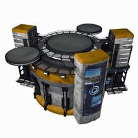 - sci-fi city building 3d model