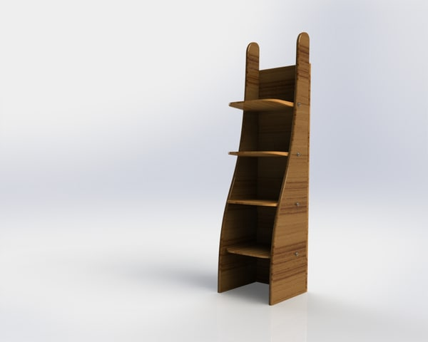 3d solidworks funny shelf