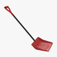 snow utility shovel 3d 3ds
