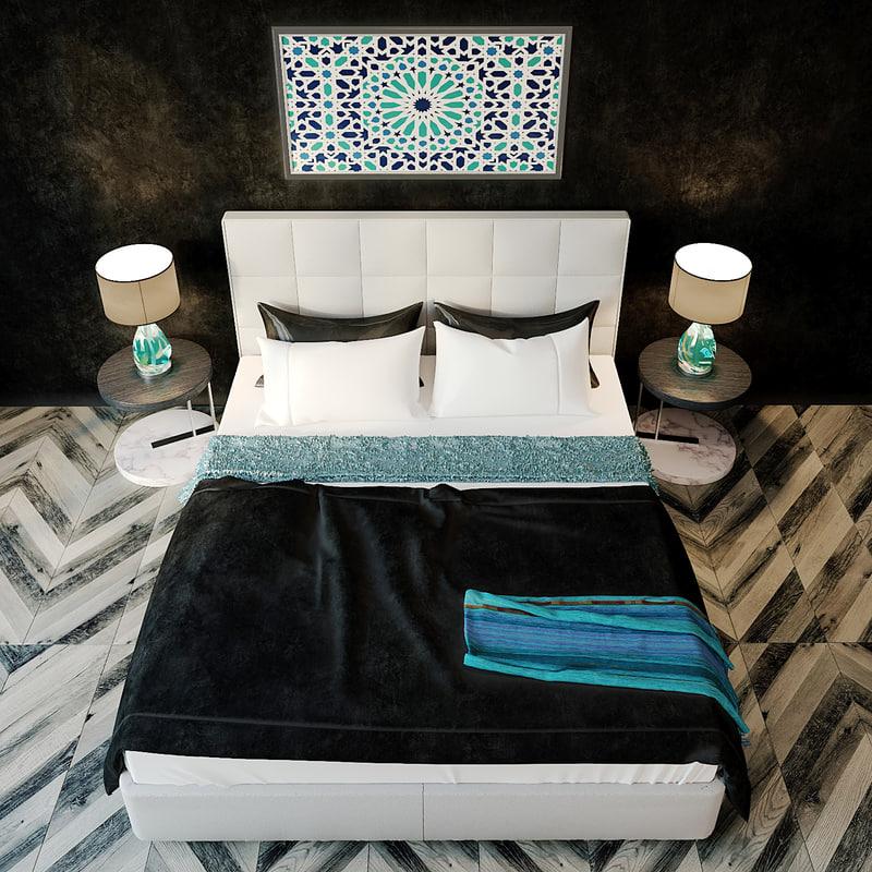 3d bed nicoline letti miro model