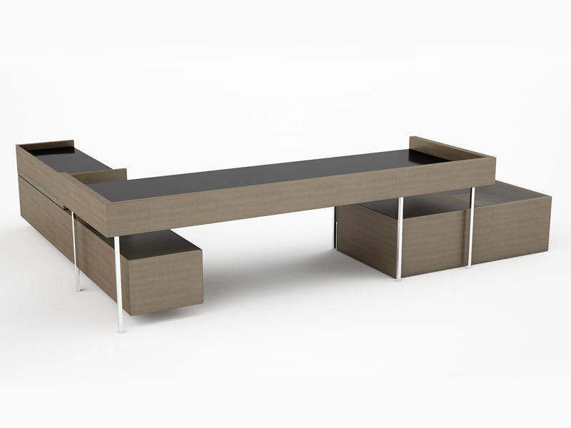 3d design office desk model