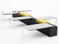 3d model design office desk