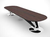 3d design office desk model