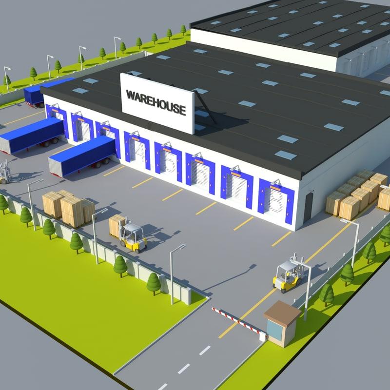 3ds warehouse scene
