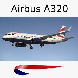 airbus a320 british airways obj
