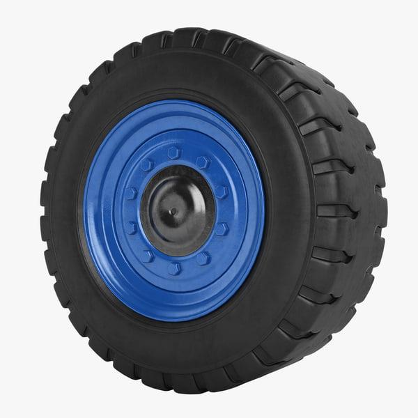 douglas kalmar wheel 3d obj