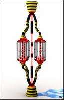 sci-fi column 3d max