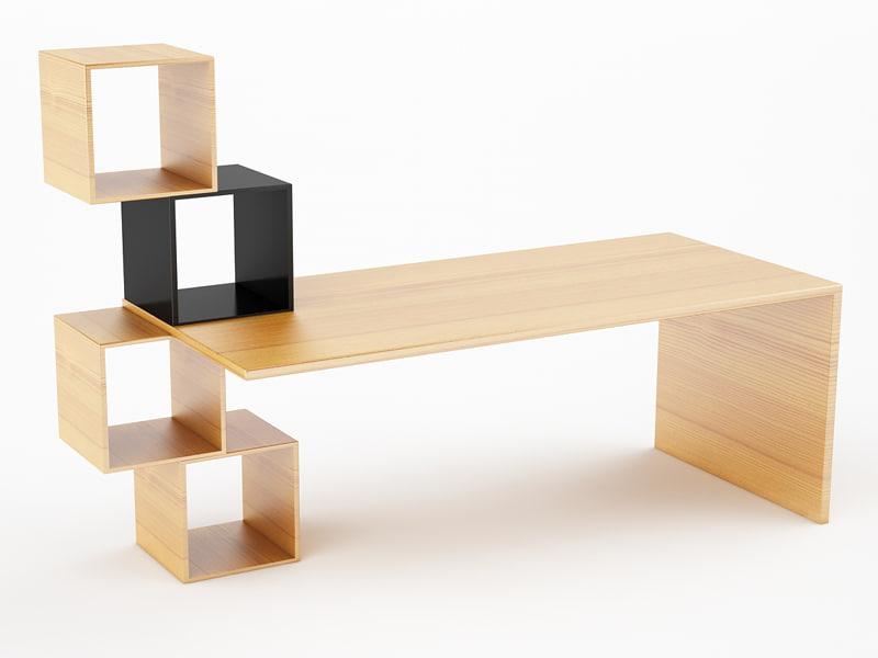 design office desk 3d model