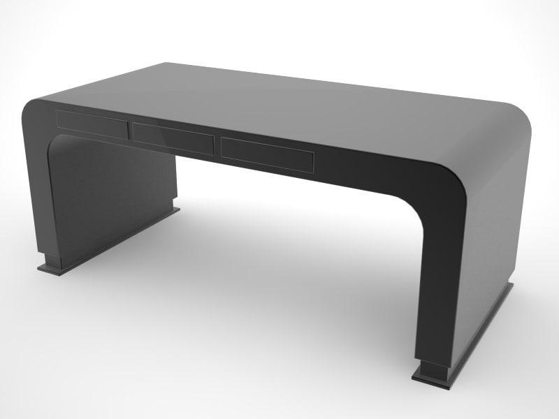 design office desk 3d c4d