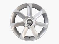 3d audi tt alloy wheel