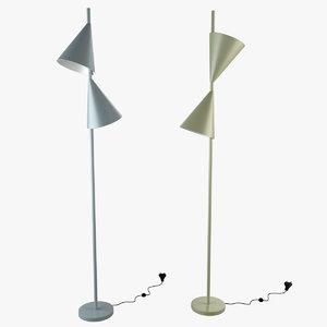 max cone floor lamp