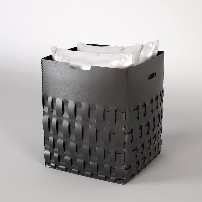 3d braid basket pillows