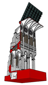chartres cathedral cutaway obj