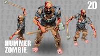 2D Hummer Man Zombie