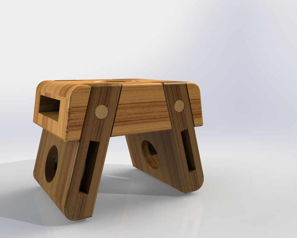 3d solidworks stool