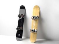 3d model snowboards