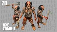 2D Axe Man Zombie