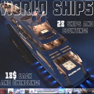 3d model ships tallships yachts