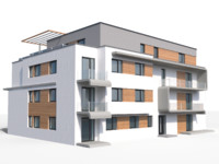 3d modern appartment house model
