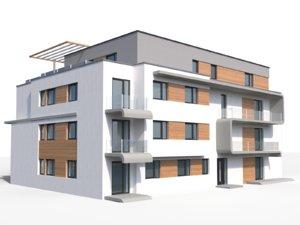 3d modern appartment house model